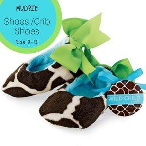 Other - Giraffe MUDPIE Mary Jane giraffe velour shoes 0-12